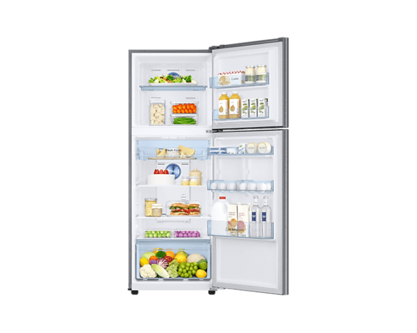 in-top-mount-freezer-rt37t4533s8hl-rt37t4533s8-hl-frontopenwithfoodsilver-206618299