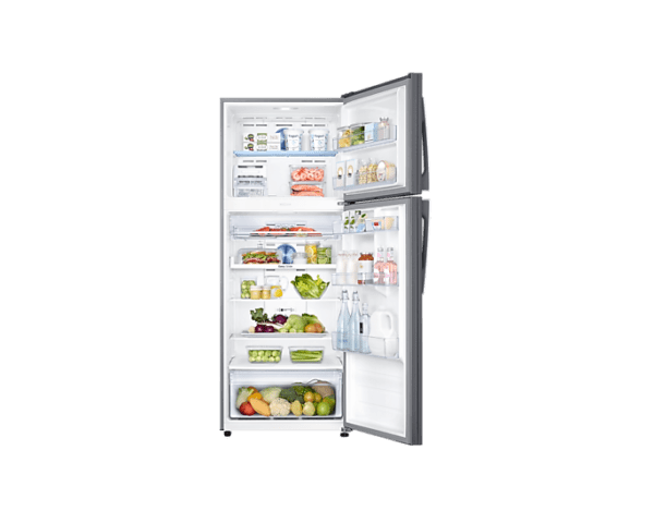 in-top-mount-freezer-rt49r633esltl-rt49r633esl-tl-frontopenwithfoodsilver-224903607