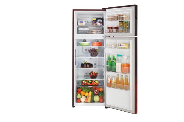 GL-T322RSCY-Refrigerators-Front-View-Door-Open-With-Content-DZ-02